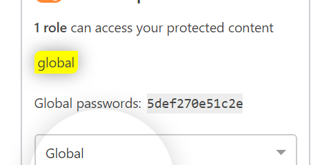Password Protect WordPress Pro: Add New Global Passwords while editing content