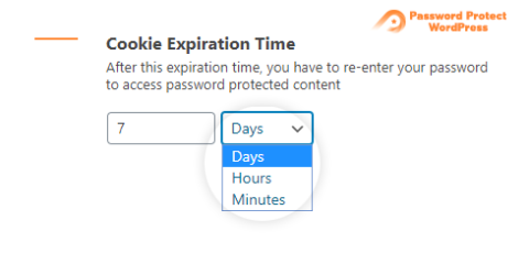 Password Protect WordPress Lite: Cookie Expiration Time