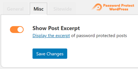 Password Protect WordPress Lite: Show Password Protected Post Excerpt