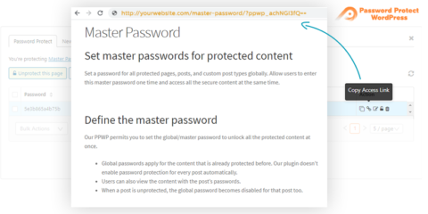 Password Protect WordPress Pro: Bypass Password Protection Links