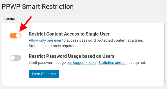 Smart Restriction: Restrict Access to Single User