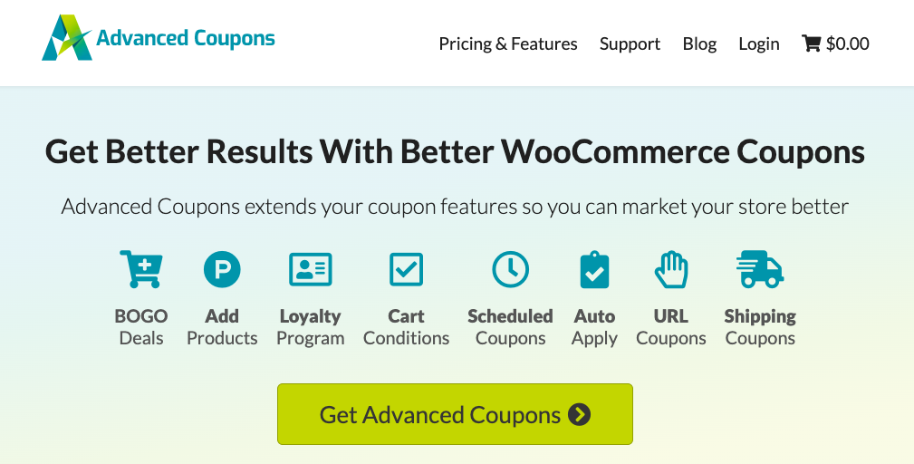 WooCommerce BOGO advanced coupons