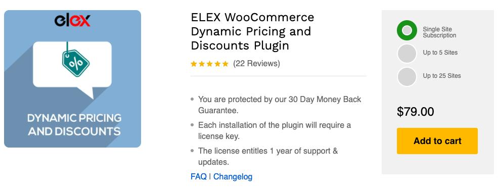 WooCommerce BOGO Elex Dynamic Pricing and discounts