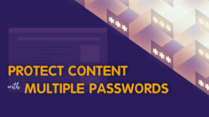PPWP Pro Tutorial Videos: Multiple passwords