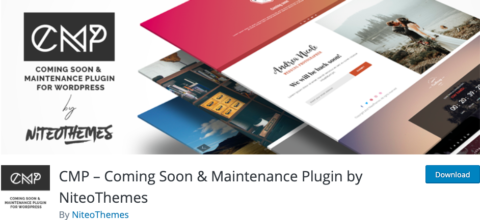 CMP coming soon maintenance plugin