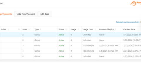 Password Protect WordPress Pro: Quick Access Links in Access Levels