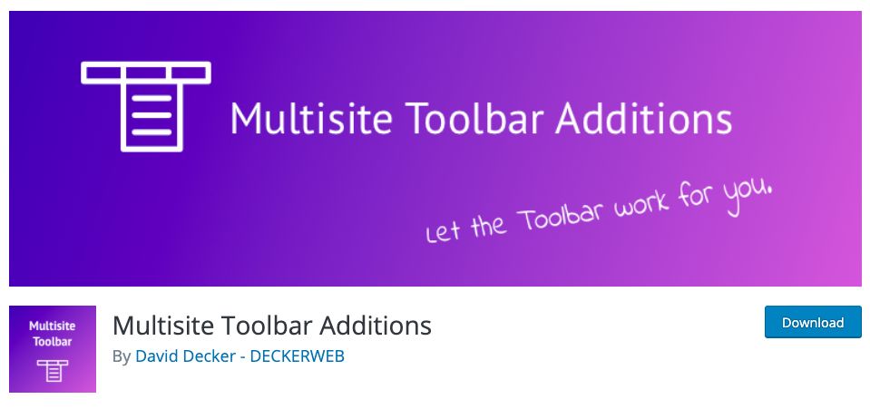 Essential Plugins for WordPress Multisite toolbar additions