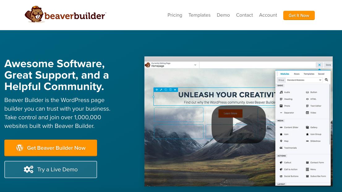 Top WordPress page builder plugin beaver