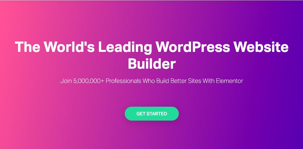Elementor the best WordPress page builder