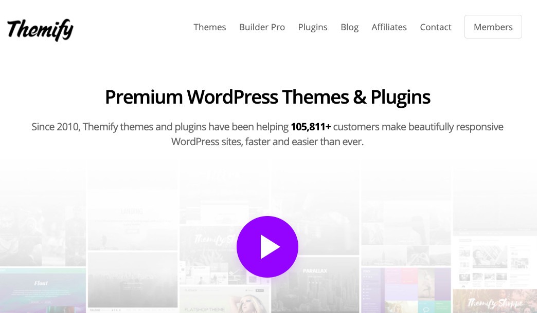 Themify best frontend edit page builder