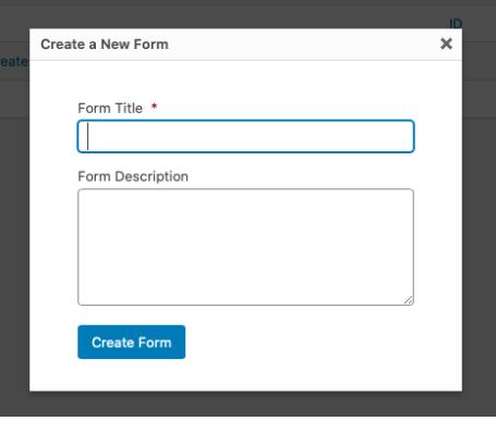 add form title description