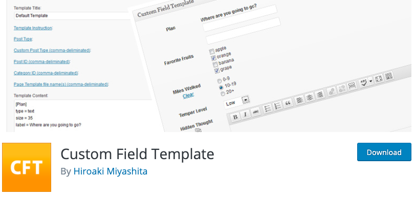 custom field template