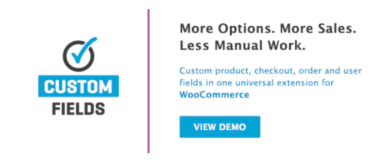 WooCommerce custom fields plugin