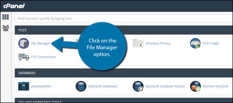 File manager option