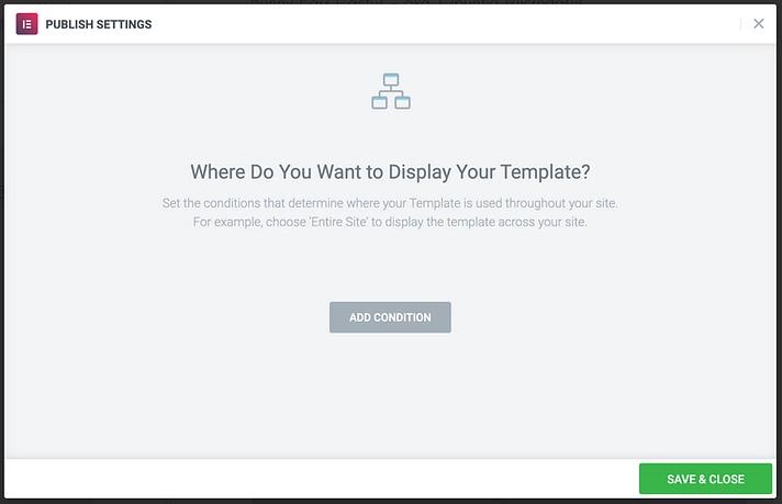 publish template
