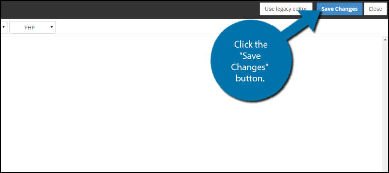 save changes button