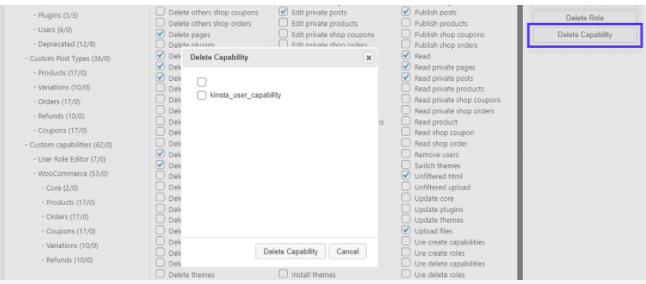 delete capability