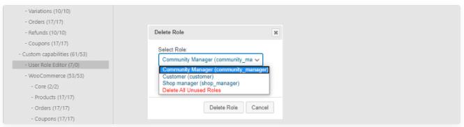 delete role