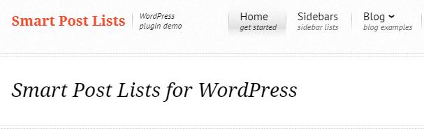 Smart Post Lists for WordPress