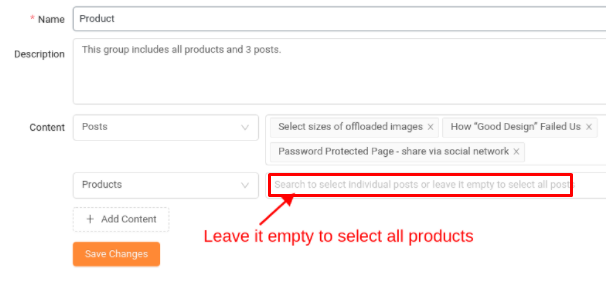 select pages that need to protect