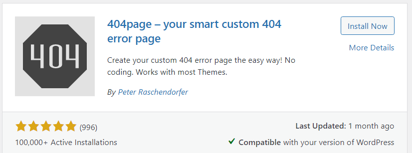 404page - your smart custom 404 error page plugin