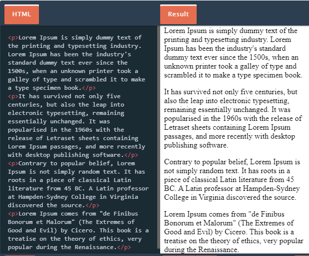 adjust spaces in html via paragraph tag