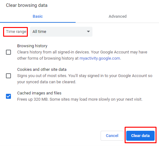 cached images and files Google Chrome