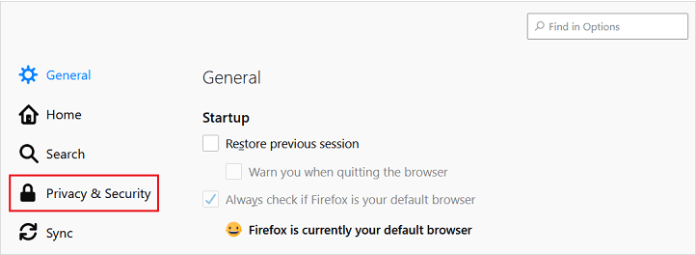 Mozilla Firefox privacy and security