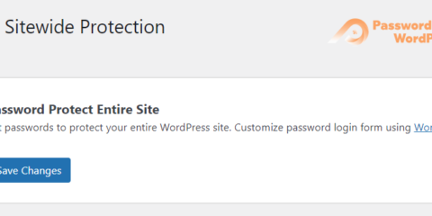 Password Protect WordPress Lite: Sitewide Protection Settings