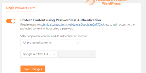 Passwordless Authentication: Use Google reCAPTCHA to Unlock Protected Content