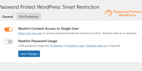 Smart Restriction: Allows 1 User to Access Protect Content at a Time