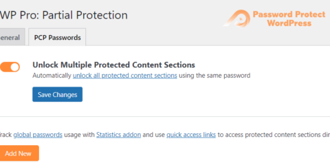 Password Protect WordPress Pro: Unlock Multiple Protected Content Sections with One Password