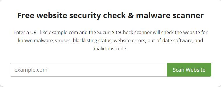 Sucuri malware scanner