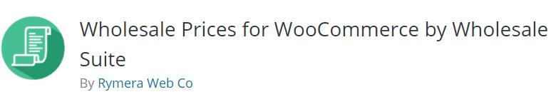 WooCommerce Wholesale Pricing plugin Wholesale Suite