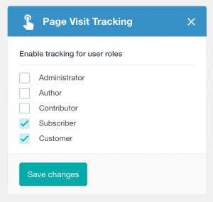PPWP Pro: Choose roles under Page Visit Tracking module