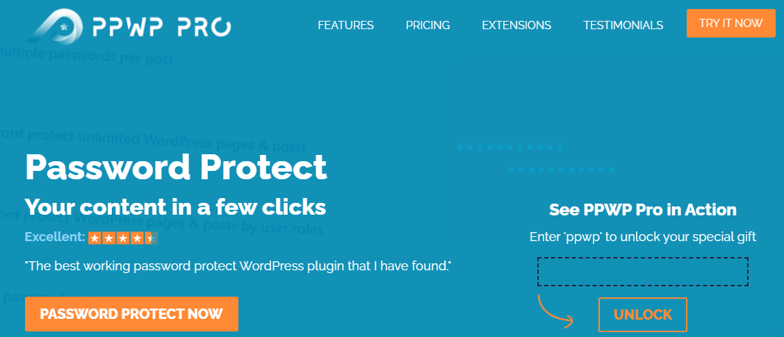 password protect wordpress pro