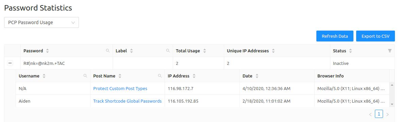 PPWP Pro: Track IP addresses