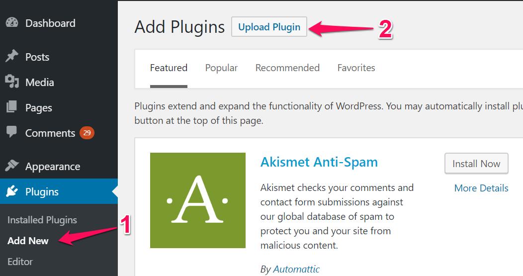PPWP Pro: Upload plugins