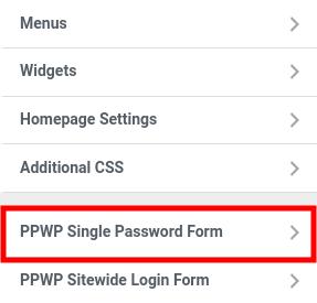 PPWP Pro: Customize single password forms